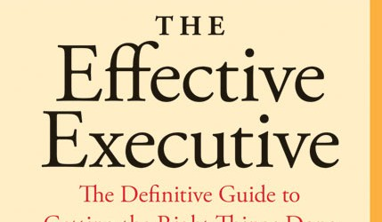 So I have another note worthy book for anyone looking to become more effective as either an entrepreneur or in their place of business. The Effective Executive: The Definitive Guide...